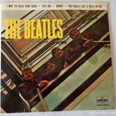Discos de vinilo: THE BEATLES - I WANT TO HOLD YOUR HAND ODEON - 1964 CON ERROR IMPRESIÓN. Lote 166296150
