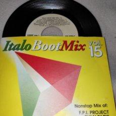 Discos de vinilo: ITALO BOOT MIX VOL 15 - SINGLE VINILO - BOOTMIX - RYAN PARIS - KOTO - DNA. Lote 166296409