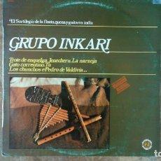 Discos de vinilo: GRUPO INKARI LP 1981 DIAL DISCOS SPANISH. Lote 166296742