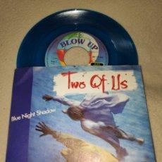 Discos de vinilo: SINGLE VINILO - TWO OF US - BLUE NIGHT SHADOW - SINGLE COLOR AZUL. Lote 166297458