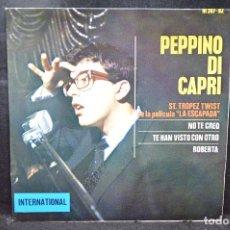 Discos de vinilo: PEPPINO DI CAPRI - ST. TROPEZ TWIST + 3 - EP. Lote 166301378