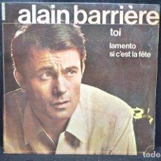 Discos de vinilo: ALAIN BARRIERE - TOI + 2 - EP. Lote 166305294