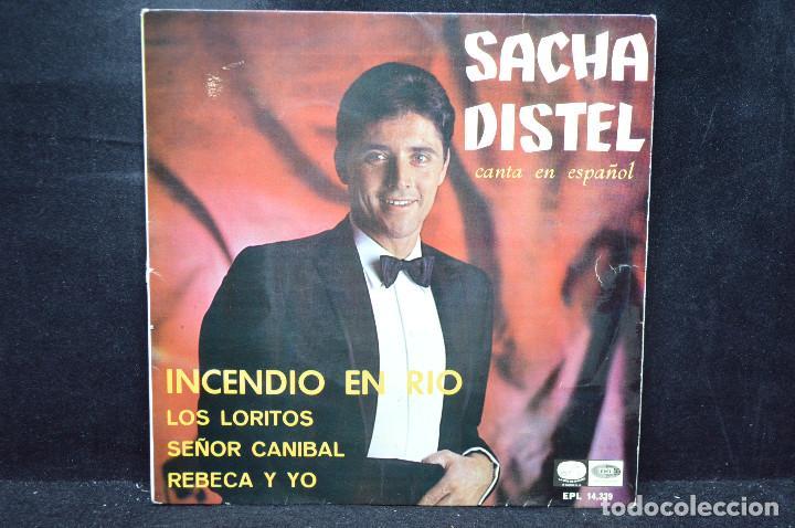 SACHA DISTEL - INCENDIO EN RIO + 3 - EP (Música - Discos de Vinilo - EPs - Canción Francesa e Italiana)