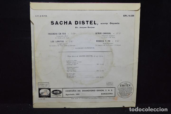 Discos de vinilo: SACHA DISTEL - INCENDIO EN RIO + 3 - EP - Foto 2 - 166306278