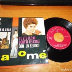 Discos de vinilo: SALOME SE´N VA ANAR CANTADO EN CATALAN EP VINILO DEL AÑO 1963 ZAFIRO CONTIENE 4 TEMAS. Lote 166316790