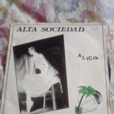 Discos de vinilo: EP ALTA SOCIEDAD ALICIA EL DOMINGO POP ROCK ZARAGOZA 1982. Lote 166322654