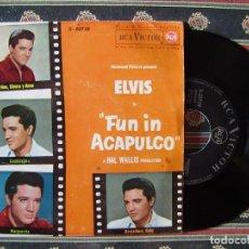 Discos de vinilo: ELVIS PRESLEY.VINO,DINERO Y AMOR-GUADALAJARA + 2..DE LA PELICULA FUN IN ACAPULCO..DIFICIL. Lote 166328414