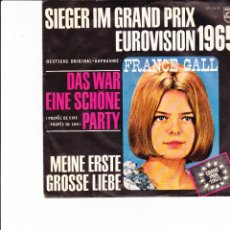 Discos de vinilo: FRANCE GALL SIEGER IM GRAND PRIX EUROVISION 1965 DAS WAR EINE SCHONE PARTY GERM. Lote 166355442