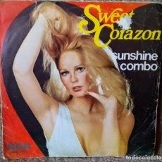 Discos de vinilo: SUNSHINE COMBO : SWEET CORAZÓN SINGLE, 1976, ESPAÑA. Lote 166368858