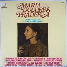 Discos de vinilo: VINILO MARÍA DOLORES PRADERA ACOMPAÑADA POR LOS GEMELOS. Lote 166381378