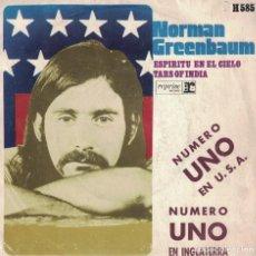 Discos de vinilo: NORMAN GREENBAUM - ESPIRITU EN EL CIELO / TARS OF INDIA (SINGLE ESPAÑOL, REPRISE RECORDS 1970). Lote 166387362
