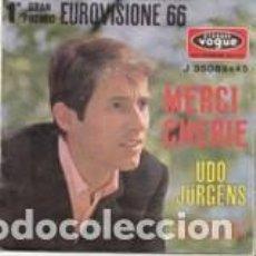 Discos de vinilo: 1O GRAN PREMIO EUROVISIONE 66 MERCI CHERIE' VERSION ITALIENNE VOGUE ITALY . Lote 166387602