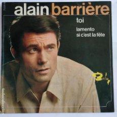 Discos de vinilo: EP ALAIN BARRIERE - TOI. Lote 166389914
