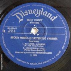 Discos de vinilo: MICKEY MOUSE - EL SASTRECILLO VALIENTE. Lote 166391634