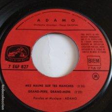 Discos de vinilo: EP ADAMO - MES MAINS SUR THES MANCHES. Lote 166393906