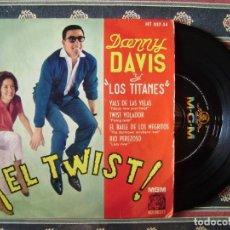 Discos de vinilo: DANNY DAVIS Y LOS TITANES.VALS DE LAS VELAS-TWIST VOLADOR +`2 RARO. Lote 166402386