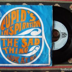 Discos de vinilo: CUPID´S INSPIRATION.THE SAD THING-LOOK AT ME...MUY RARO..FRANCIA. Lote 166403786