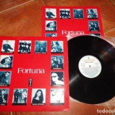 Discos de vinilo: FORTUNA MUSIC DISCO BAILE LP VINILO PROMO 1991 FANGORIA ALASKA NACHO CANUT LOCO MIA MANTRONIX. Lote 166421466