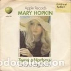 Discos de vinilo: MARY HOPKINN LONTANO DAGLI OCCHI /TEMA HARBOUR LABEL APPLE RECORDS UK. Lote 166440574
