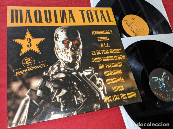 MAQUINA TOTAL 3 2LP 1992 MAX MUSIC GATEFOLD SPAIN ESPAÑA RECOPILATORIO KA-22+SKEET MACHINE+ETC (Música - Discos - LP Vinilo - Disco y Dance)