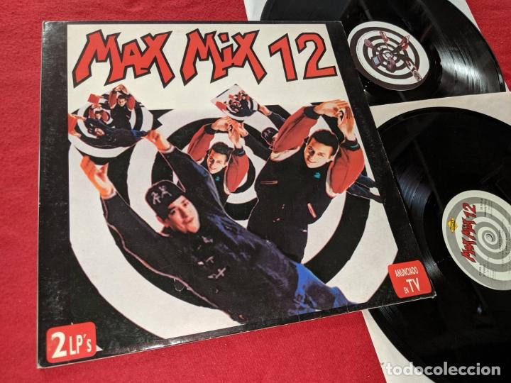 MAX MIX 12 2LP 1992 MAX MUSIC GATEFOLD SPAIN ESPAÑA RECOPILATORIO ELASTIC BAND+LEAVIS KING+ETC (Música - Discos - LP Vinilo - Disco y Dance)