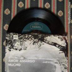 Discos de vinilo: BRUNO LOMAS.AMOR AMARGO-MUCHO...DIFICIL..EX. Lote 166453486