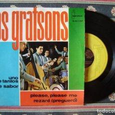 Discos de vinilo: LOS GRATSONS.UNO DE TANTOS-PLEASE,PLEASE ME + 2...DIFICIL...EX. Lote 166454022