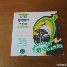 Discos de vinilo: 2 EP (8 TEMAS) RITMO, JUVENTUD Y DIOS. COMUNIDAD UNIVERSITARIA SAN BENITO, SALAMANCA. DISCOTECA PAX . Lote 166467158