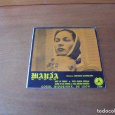 Discos de vinilo: EP (4 TEMAS) CORAL ISIDORIANA DE LEÓN. NARÍA. MÚSICA CESÁREO GABARAIN.. Lote 166467222