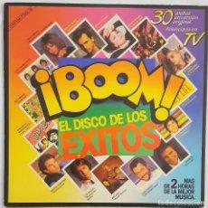 Discos de vinilo: ¡BOOM! EL DISCO DE LOS ÉXITOS. 30 ÉXITOS EN VERSIÓN ORIGINAL. 1985. DOS DISCOS. Lote 166470086