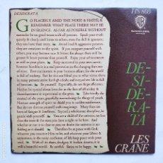 Discos de vinilo: LES CRANE - DESIDERATA. Lote 166470602