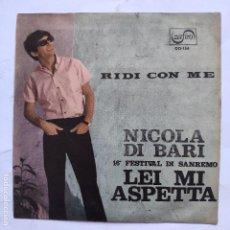 Discos de vinilo: NICOLA DI BARI - LEI MI ASPETTA. Lote 166470802