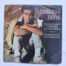 Dischi in vinile: LEONARDO FAVIO - PARA SABER COMO ES LA SOLEDAD. Lote 166471794