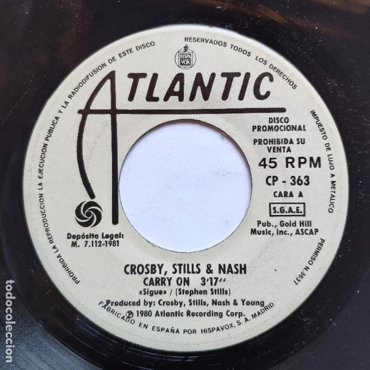 PROMO - CROSBY, STILL & NASH - CARRY ON (Música - Discos - Singles Vinilo - Otros estilos)