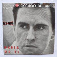 Discos de vinilo: EP RICARDO DEL TURCO - HABLA DE TI - (SE VENDE SOLO PORTADA, EL VINILO ESTÁ ONDULADO). Lote 166474310