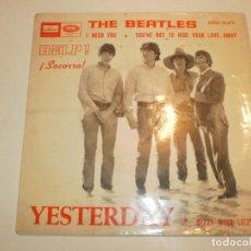 Discos de vinilo: SINGLE THE BEATLES. YESTERDAY. I NEED YOU. ODEON 1965 SPAIN (PROBADO Y BIEN, BUEN ESTADO). Lote 166475346