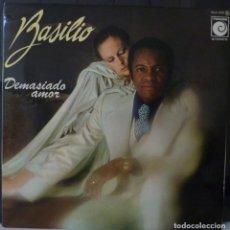 Discos de vinilo: BASILIO // DEMASIADO AMOR // 1977 // PORTADA DOBLE // (VG G). LP. ENCARTE. Lote 166490058