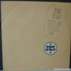 Discos de vinilo: THE WHO // LIVE AT LEEDS // 1970 (VG VG). LP. Lote 166497654