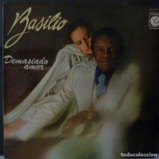 Discos de vinilo: BASILIO // DEMASIADO AMOR // 1977 // PORTADA DOBLE // (VG VG). LP ENCARTE. Lote 166501194