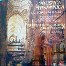 Discos de vinilo: DE MORALES. MÚSICA HISPANICA. CAPELLA & ESCOLANIA MONTSERRAT. HARMONIA MUNDI. (1LP). Lote 166526314