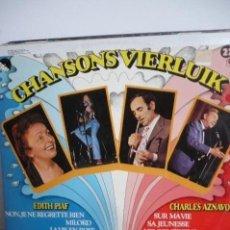 Discos de vinilo: CHANSONS VIERLUIK. Lote 166547234