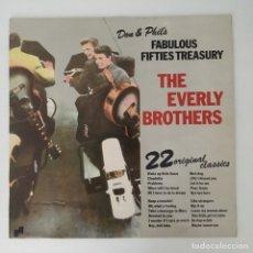 Discos de vinilo: LP - THE EVERLY BROTHERS - FABULOUS FIFTIES TREASURY - VINILO. Lote 166550604