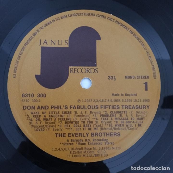 Discos de vinilo: LP - THE EVERLY BROTHERS - Fabulous fifties treasury - vinilo - Foto 2 - 166550604