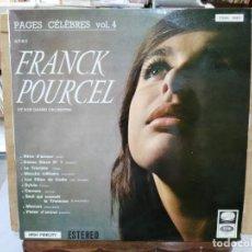 Discos de vinilo: PÁGINAS CÉLEBRES VOL. 4 - CON FRANK POURCEL Y SU GRAN ORQUESTA - LP. DEL SELLO LA VOZ DE SU AMO . Lote 166555230