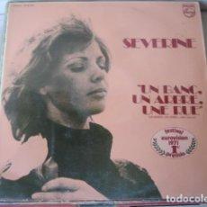 Discos de vinilo: SÉVERINE UN BANC, UN ARBRE, UNE RUE. Lote 166560234