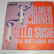 Discos de vinilo: SINGLE AMEN CORNER. HELLO SUSIE. EVIL MAN'S GONNA WIN. IMMEDIATE 1969 SPAIN (PROBADO Y BIEN). Lote 166572650