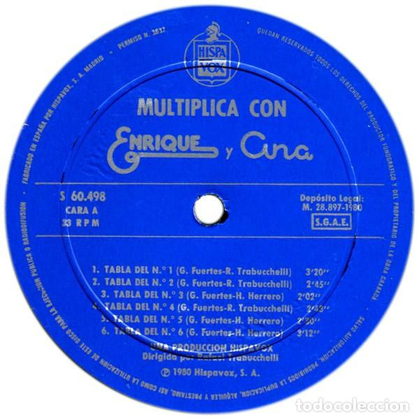 Discos de vinilo: Enrique Y Ana - Multiplica Con Enrique Y Ana (España, 1980) - Foto 2 - 166581170