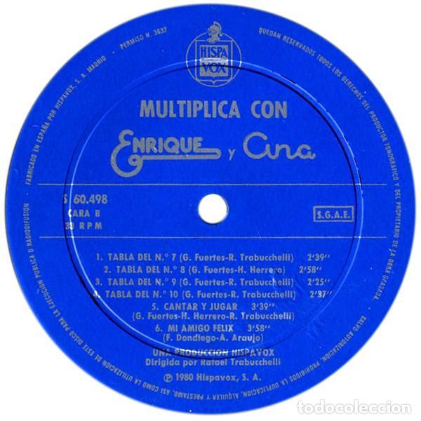 Discos de vinilo: Enrique Y Ana - Multiplica Con Enrique Y Ana (España, 1980) - Foto 3 - 166581170