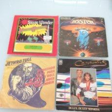 Discos de vinilo: 4 SINGLES 45. JETHROTULL, CARPENTERS, BOSTON Y STEVIE WONDER.. Lote 166599580