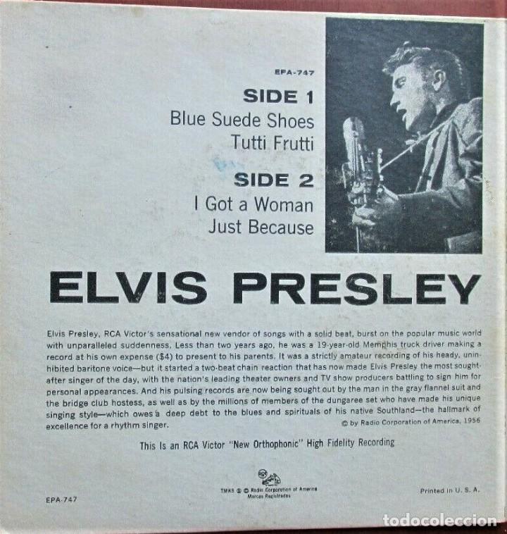 Discos de vinilo: ELVIS PRESLEY - EPA 747 - USA - de 1956 - Foto 2 - 166603558
